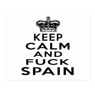 KEEP CALM AND SPAIN POSTCARD