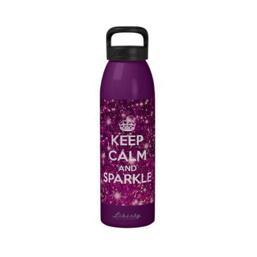 Keep Calm and Sparkle Glitter LookLike Drinking Bottles