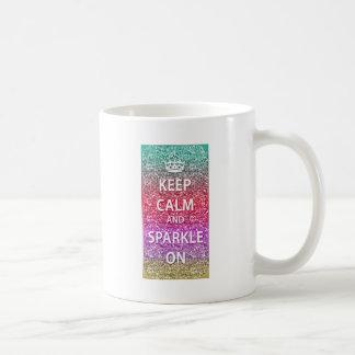 Keep Calm and Sparkle On Glitter Classic White Coffee Mug