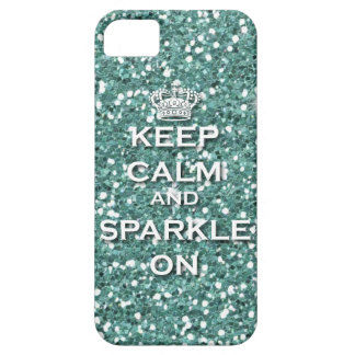 Keep Calm and Sparkle On IPhone5 Case