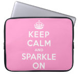 Keep Calm and Sparkle On Laptop Sleeve