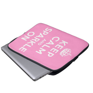 Keep Calm and Sparkle On Laptop Sleeves
