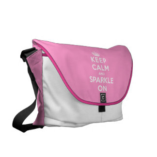 Keep Calm and Sparkle On Commuter Bags
