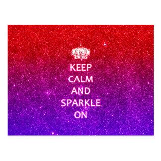 Keep Calm and Sparkle On Postcard