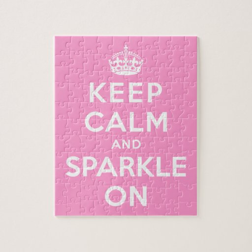 Keep Calm and Sparkle On Puzzles