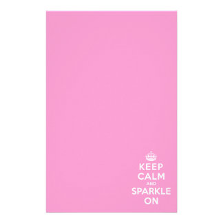 Keep Calm and Sparkle On Stationery