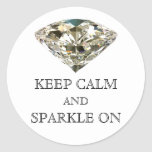 """KEEP CALM AND SPARKLE ON"" Stickers"