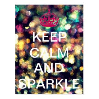 Keep Calm and Sparkle - postcard