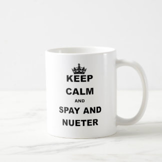 KEEP CALM AND SPAY AND NUETER.png Coffee Mug