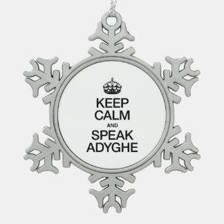 KEEP CALM AND SPEAK ADYGHE ORNAMENT