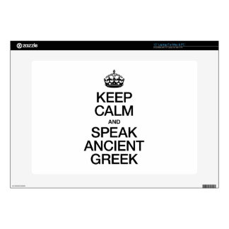 KEEP CALM AND SPEAK ANCIENT GREEK DECALS FOR LAPTOPS