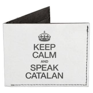 KEEP CALM AND SPEAK CATALAN TYVEK® BILLFOLD WALLET