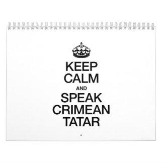 KEEP CALM AND SPEAK CRIMEAN TATAR CALENDAR