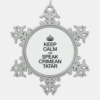 KEEP CALM AND SPEAK CRIMEAN TATAR ORNAMENT