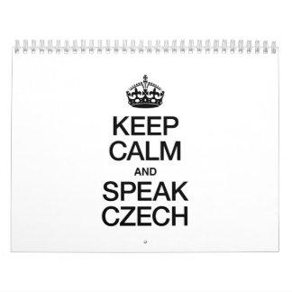 KEEP CALM AND SPEAK CZECH CALENDAR