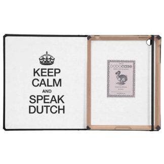 KEEP CALM AND SPEAK DUTCH iPad COVER