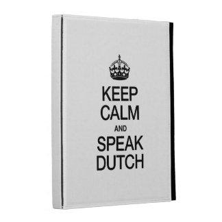 KEEP CALM AND SPEAK DUTCH iPad FOLIO COVER
