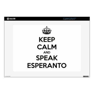 "KEEP CALM AND SPEAK ESPERANTO 15"" LAPTOP SKINS"