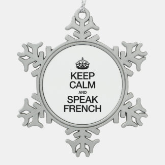 KEEP CALM AND SPEAK FRENCH ORNAMENTS