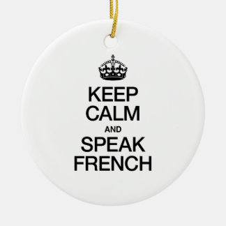 KEEP CALM AND SPEAK GALICIAN CHRISTMAS ORNAMENTS