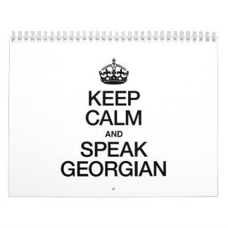 KEEP CALM AND SPEAK GEORGIAN CALENDAR
