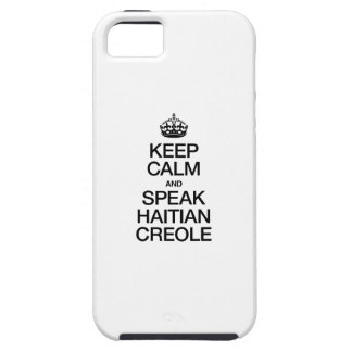 KEEP CALM AND SPEAK HAITIAN CREOLE iPhone SE/5/5s CASE