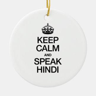 KEEP CALM AND SPEAK HINDI CHRISTMAS TREE ORNAMENT