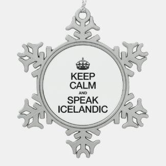 KEEP CALM AND SPEAK ICELANDIC ORNAMENT