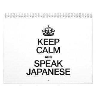 KEEP CALM AND SPEAK JAPANESE CALENDAR