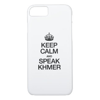 KEEP CALM AND SPEAK KHMER iPhone 8/7 CASE