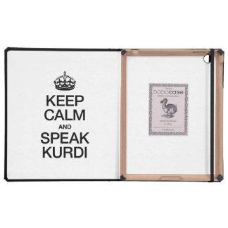 KEEP CALM AND SPEAK KURDI iPad CASE