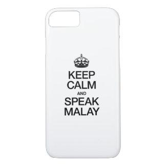 KEEP CALM AND SPEAK MALAY iPhone 7 CASE