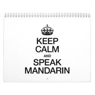 KEEP CALM AND SPEAK MANDARIN WALL CALENDARS