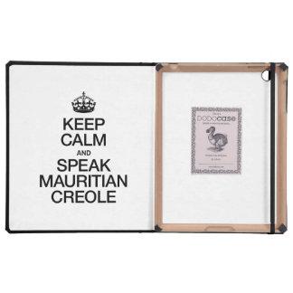KEEP CALM AND SPEAK MAURITIAN CREOLE CASE FOR iPad