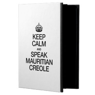 KEEP CALM AND SPEAK MAURITIAN CREOLE COVER FOR iPad AIR