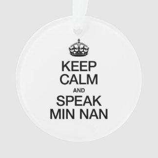 KEEP CALM AND SPEAK MIN NAN