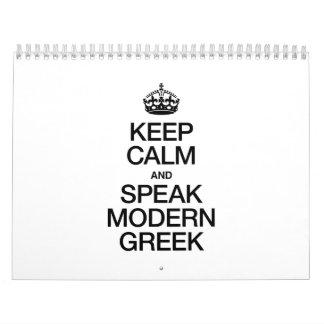 KEEP CALM AND SPEAK MODERN GREEK. CALENDAR