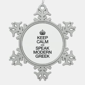 KEEP CALM AND SPEAK MODERN GREEK. ORNAMENT