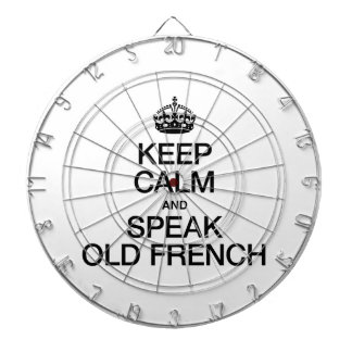 KEEP CALM AND SPEAK OLD FRENCH DARTBOARD WITH DARTS