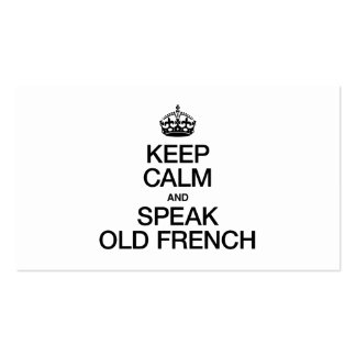 KEEP CALM AND SPEAK OLD FRENCH Double-Sided STANDARD BUSINESS CARDS (Pack OF 100)
