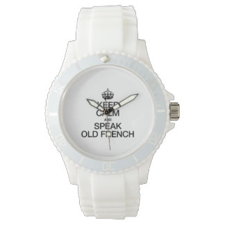 KEEP CALM AND SPEAK OLD FRENCH WRISTWATCH