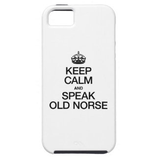 KEEP CALM AND SPEAK OLD NORSE iPhone SE/5/5s CASE