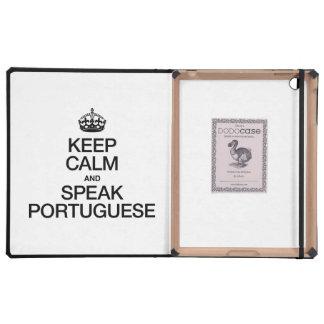 KEEP CALM AND SPEAK PORTUGUESE iPad COVER