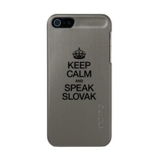 KEEP CALM AND SPEAK SLOVAK INCIPIO FEATHER® SHINE iPhone 5 CASE