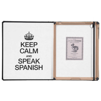 KEEP CALM AND SPEAK SPANISH CASE FOR iPad