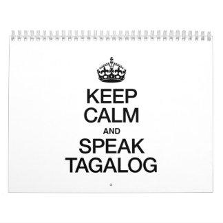 KEEP CALM AND SPEAK TAGALOG CALENDAR