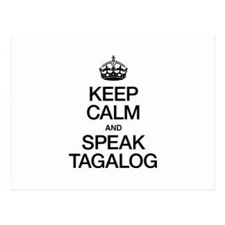 KEEP CALM AND SPEAK TAGALOG POSTCARD