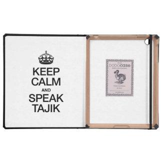 KEEP CALM AND SPEAK TAJIK iPad CASE