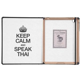 KEEP CALM AND SPEAK THAI iPad COVER