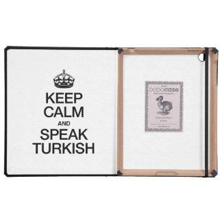 KEEP CALM AND SPEAK TURKISH iPad CASES